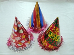 Birthday hat / paper hat / clown brush / party hat / carnival hat