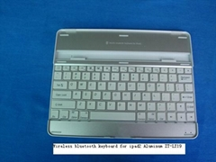 Aluminum Keyboard for iPad 2 keyboard case with high grade bluetooth