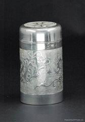 供應銀質茶葉罐
