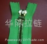 NO.10 metal sliver-plated zipper 1