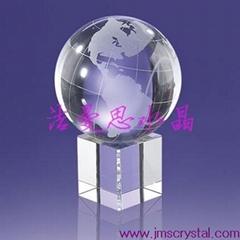 水晶地球儀