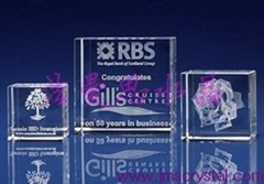 3D Laser Crystal Award