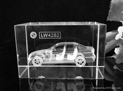 crystal 3D laser car