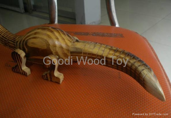 Wood Wiggle Live Dinosaur Classic Reptile Play Toy 1