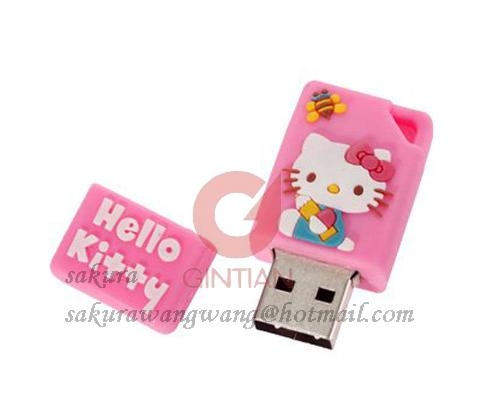 Hello Kitty USB Flash Drive with PVC, Lovely Series USB Flash Disk 1