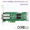 LR-LINK LREC9712PF PCI-E dual port Gigabit Fiber Server Ethernet Network Cards