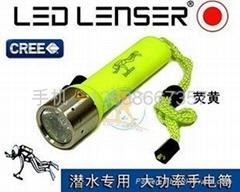 潛水電筒 強光手電筒 大功率電筒 防水電筒