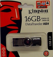 Kingston 16 GB Data Traveler 101 USB Pen Flash Drive/free shipping