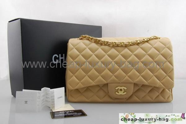 9879196ebd959f Chanel Classic XL Jumbo Maxi Flap Bag apricot lambskin golden -