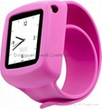 Silicone watch slap band case for iPod Nano 6