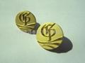 Zinc alloy badges engraved