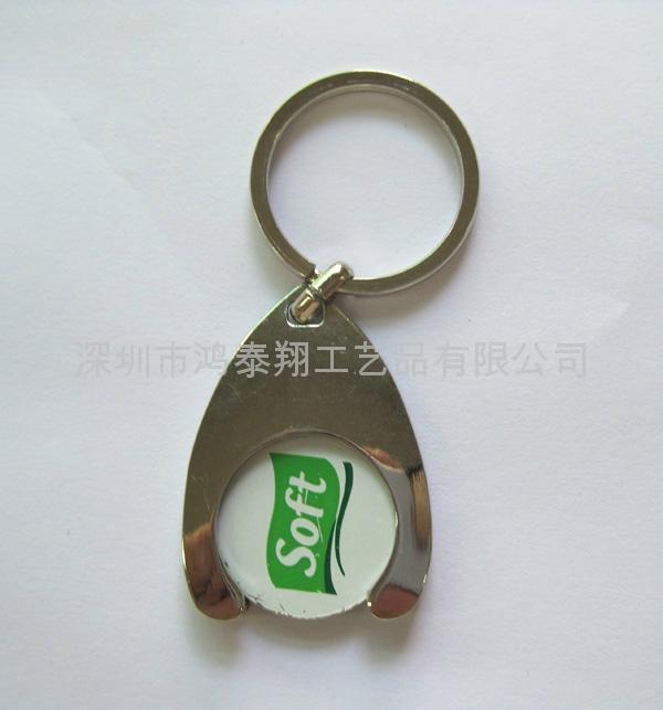锌合金烤漆钥匙扣 1