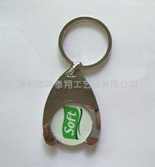 锌合金烤漆钥匙扣
