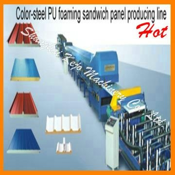 EPS and rock wool Sandwich panel Production line 1