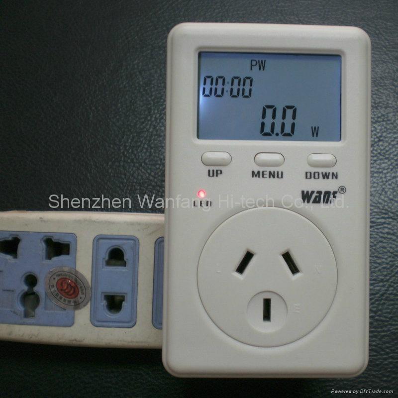Digital Watt Meter : Au plug digital display watt meter power monitor wf d b