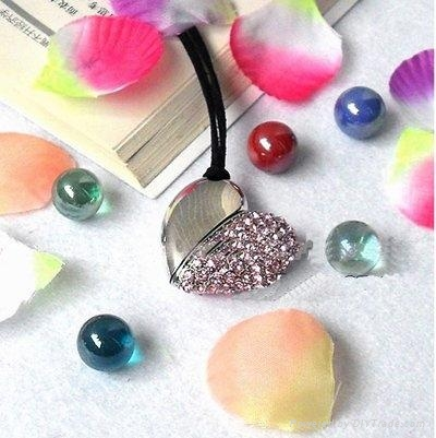 Jewelry heart shape usb flash drive 1