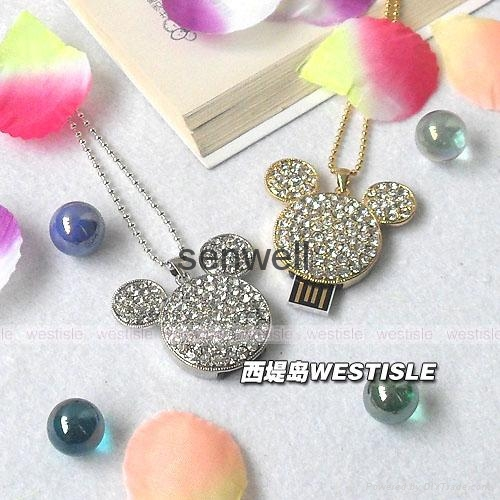 Jewelry heart shape usb flash drive 3