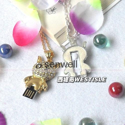 Jewelry heart shape usb flash drive 5