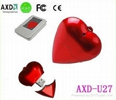 heart shape usb flash memory