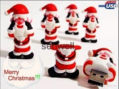 christmas usb flash memory