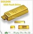 hot sale gold bar usb flash pen drive