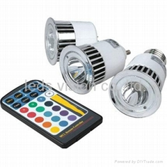 5w led spotlight RGB dimmable spotlight with remote control