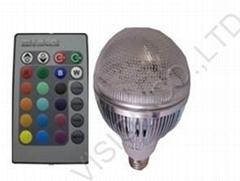 12w high power led RGB Bulb with remote