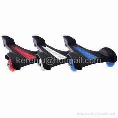 sole skate skateboard with 3-wheels 1