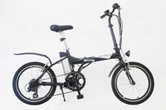 "20""electric folding bicycle with lithium battery 24V"