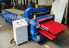 Double Layer Step Tile Roof Roll Forming Machine