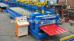 Nigeria Colored Steel glazed tile Cold Roll Forming Machine