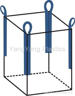 Standard FIBC: top open - bottom flat