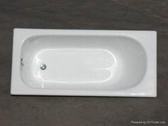 build in cast iron bathtub