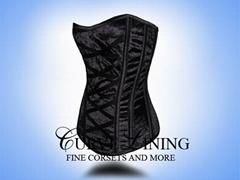 steel boned corset;velve