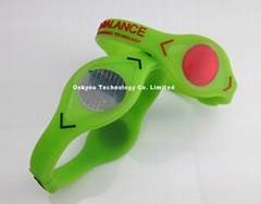Power Balance Glow Bracelet Sport Volt Wristbands Highlight Your Game
