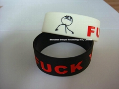 Funny Memes Fuck Yea Silicon Bracelet Wristbands for Promotional Gift