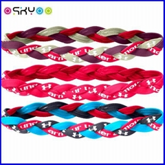 Fashion Sports Braided Mini Stretch Headband Non Slip