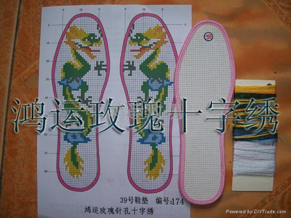 十字绣鞋垫黑玫瑰系列 2
