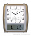 Wall Clock With LCD Display