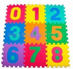 數字拼圖地墊_橡塑膠防滑地墊_EVA泡沫儿童數字安全地墊