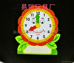 New / factory outlets puzzle toy / fun digital building blocks clock