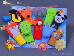 Creative new peculiar gift finger even dolls to baby storytelling good helper