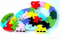 Factory direct EVA animal puzzle educational toys