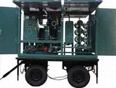 Mobile type vacuum insulating oil purifier