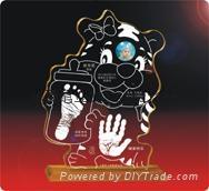 供應水晶手腳印嬰儿手足印水晶內雕章水晶紀念品 4