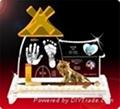 供應水晶手腳印嬰儿手足印水晶內雕章水晶紀念品 2