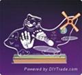 供應水晶內雕手腳印水晶印寶寶印寶寶紀念品 2