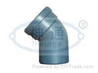 PP靜音排水管(單擴口45度彎頭)