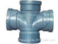 PP靜音排水管(平面四通) 1