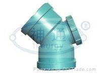 PP靜音排水管(雙擴口45度彎頭)